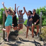 Jumping for the joy of wine!